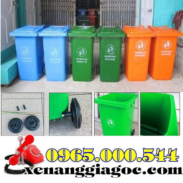 thùng rác nhựa 120 lít nhập khẩu