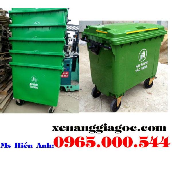 thùng rác nhựa 660 lít giá rẻ