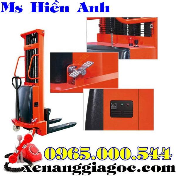 xe nâng bán tự động 1 tấn 1.6 m
