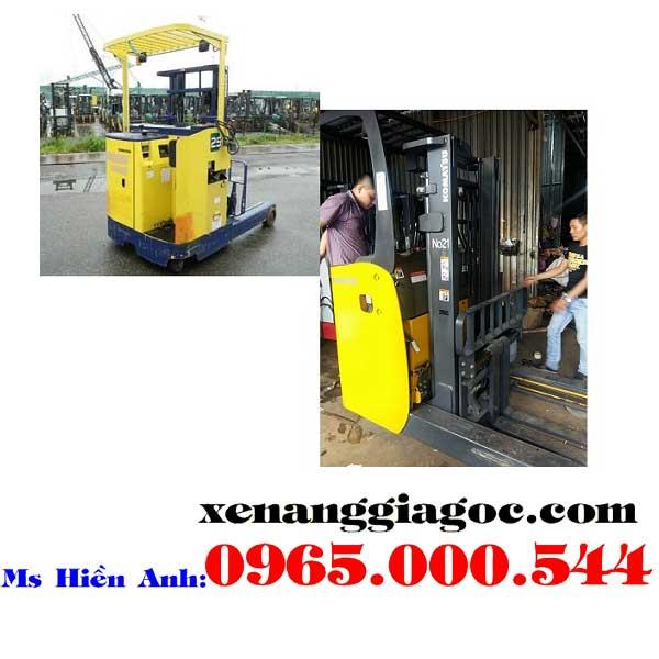xe nâng điện cũ đứng lái 1.5 tấn toyota