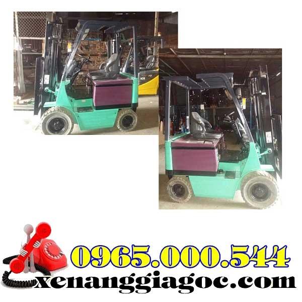 xe nâng điện cũ ngồi lái 1.5 tấn mitsubishi