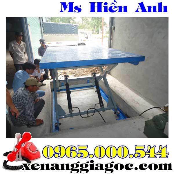bàn nâng điện 2 tấn cao 1.7 m giá rẻ