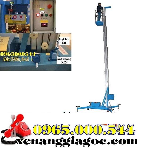 cách vận hành thang nâng người 10 m