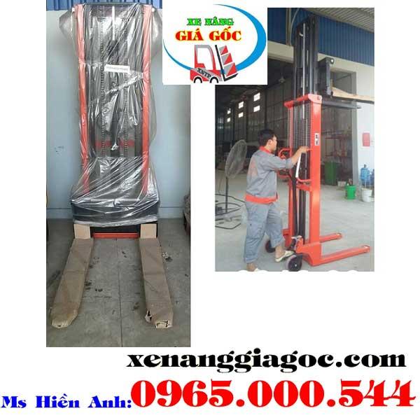 Xe nâng tay cao 1 tấn 2 m Đài Loan