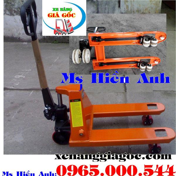 xe nâng tay càng ngắn 600 mm 800 mm