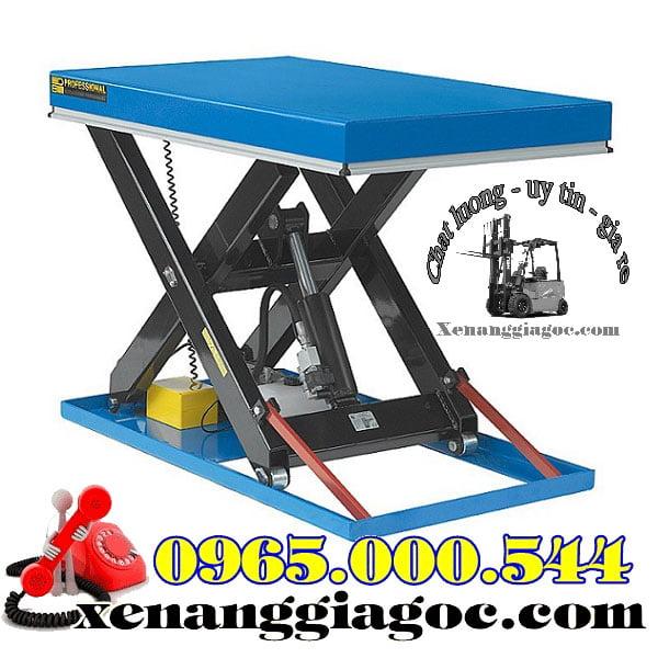 bàn nâng thủy lực chạy điện