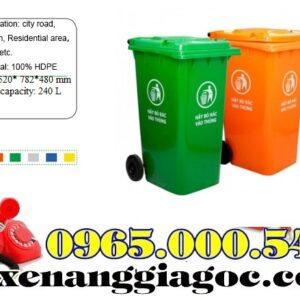 Thùng Rác Nhựa 100 Lít HDPE Giá Rẻ Giao Hàng Nhanh.