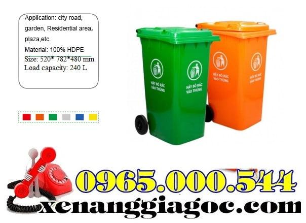 Thùng Rác Nhựa 100 Lít Nhập Khẩu