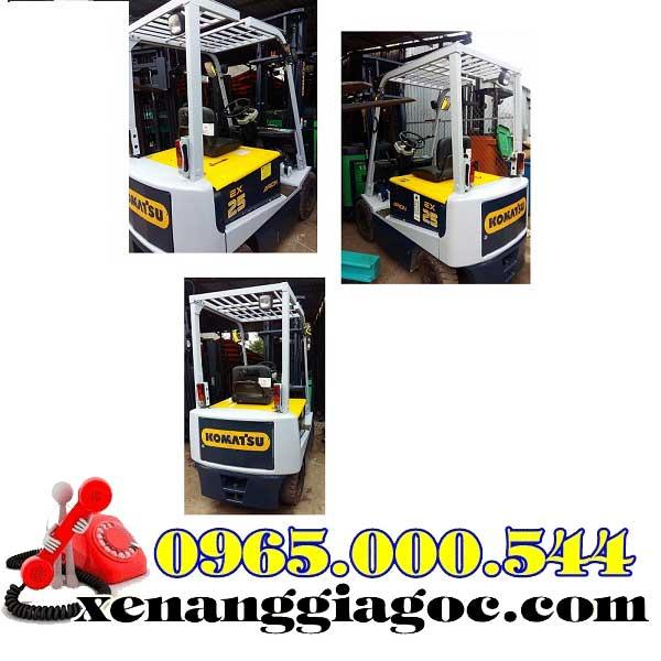 xe nâng điện cũ ngồi lái 1.5 tấn komatsu