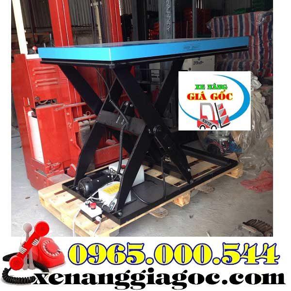 bàn nâng điện 1 tấn 1 m nhập khẩu