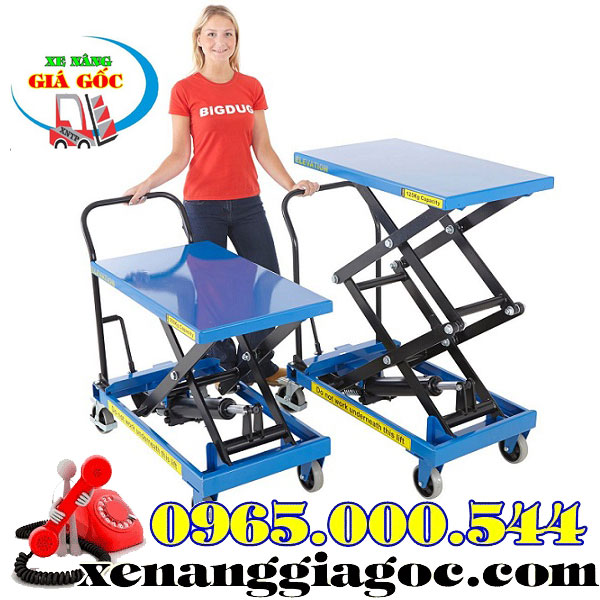 bàn nâng thủy lực 800 kg nâng cao 1.4 m giá rẻ