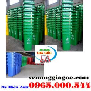 Thùng Rác Nhựa 120 Lít Giá Rẻ Tại Hà Nội