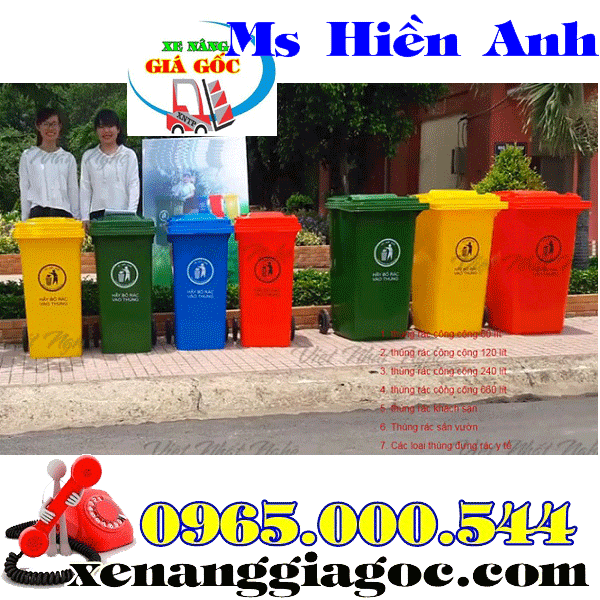 Bán thùng rác công cộng 240 lít