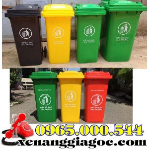 Giá Thùng Rác Nhựa 120 Lít 240 Lít