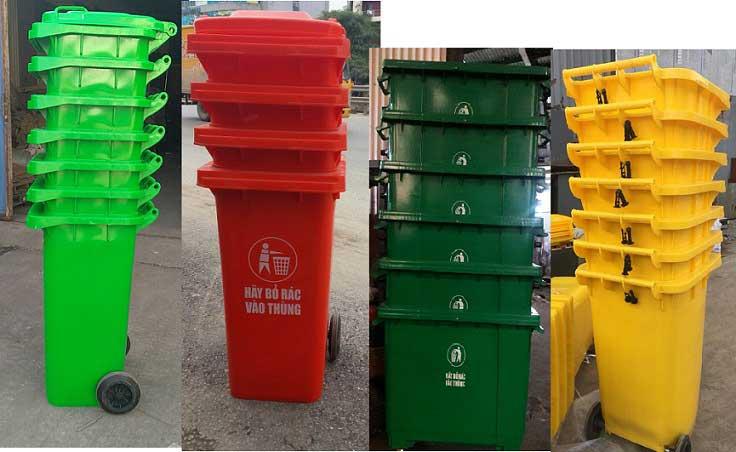 thùng rác nhựa thùng rác công cộng