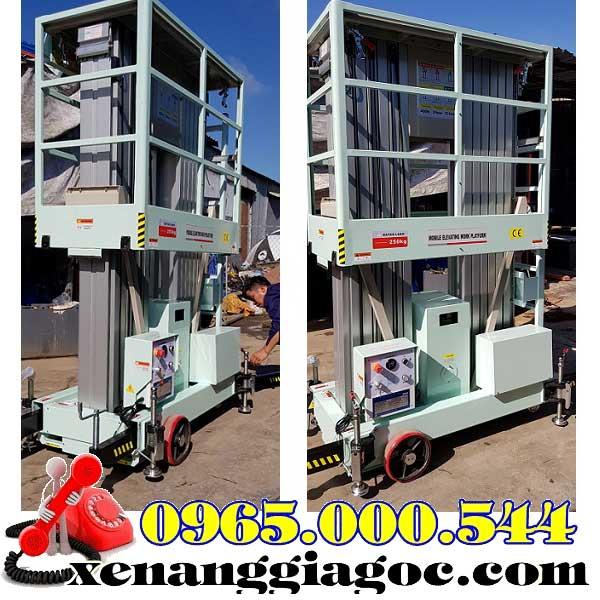 thang nâng điện 12m 2 trục nâng