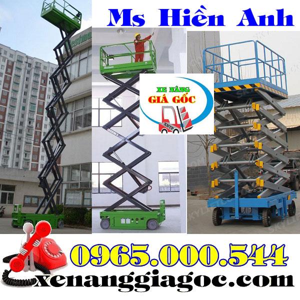 thang nâng điện 9m 10m 12m 16m giá rẻ