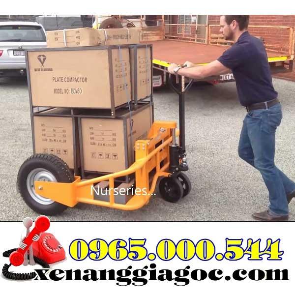 xe nâng tay bánh lốp 1 tấn 1.5 tấn