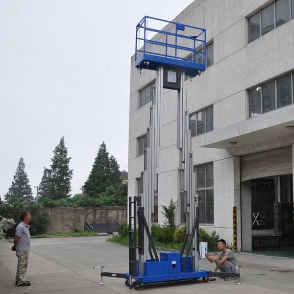 bán thang nâng 10 mét 2 trục nâng giá rẻ