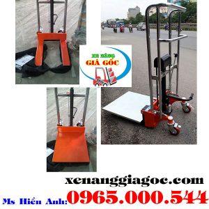 Xe Nâng Tay Cao Mini 400kg Cao 1.1m Nhập Khẩu Giá Rẻ Nhất
