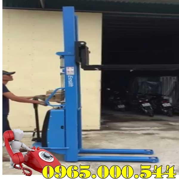 mua xe nâng bán tự động 2 tấn 2m Eoslift