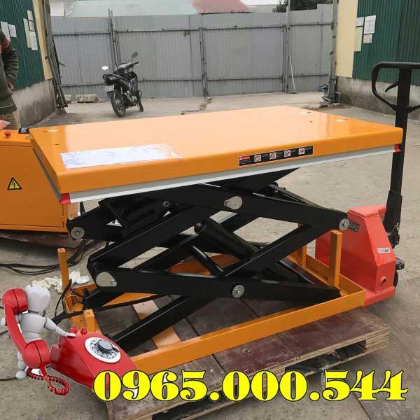 bàn nâng điện 1 tấn 2m